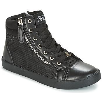 Sapatos Mulher Sapatilhas de cano-alto Le Temps des Cerises KIM Preto
