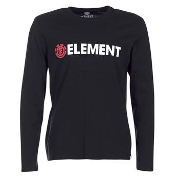 Textil Homem T-shirt mangas compridas Element BLAZIN LS Preto