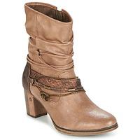 Sapatos Mulher Botins Mustang BUNDEN Bege