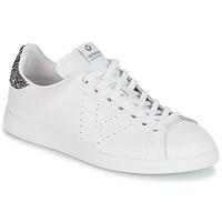 Sapatos Mulher Sapatilhas Victoria DEPORTIVO BASKET PIEL Branco / Cinza