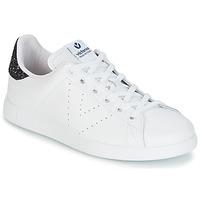 Sapatos Mulher Sapatilhas Victoria DEPORTIVO BASKET PIEL Branco / Azul