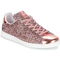 Sapatos Mulher Sapatilhas Victoria DEPORTIVO BASKET GLITTER Rosa