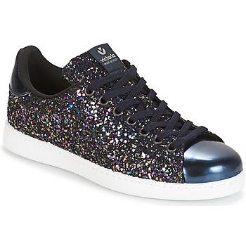 Sapatos Mulher Sapatilhas Victoria DEPORTIVO BASKET GLITTER Marinho