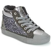 Sapatos Rapariga Sapatilhas de cano-alto Victoria BOTA PIEL PU/GLITTER Prata