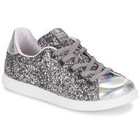 Sapatos Rapariga Sapatilhas Victoria DEPORTIVO BASKET GLITTER KID Prata