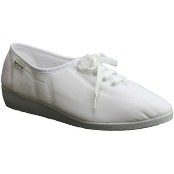 Sapatos Mulher Chinelos Muro Cunha parede sapatos laços brancos blanco