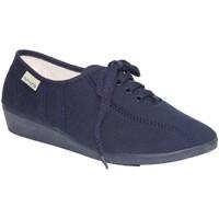 Sapatos Mulher Sapatilhas Muro Cadarços em Wall cunha marinha azul