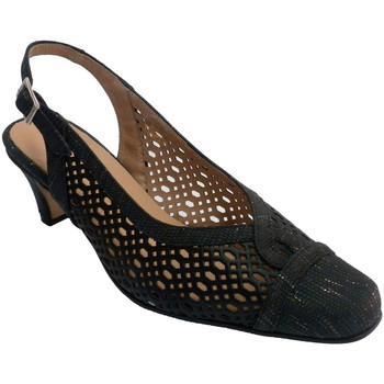 Sapatos Mulher Sandálias Trebede sapateira abrir volta mulher vestido  em Preto negro