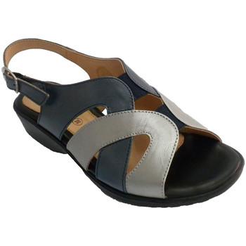 Sapatos Mulher Sandálias Doctor Cutillas Mulher sandália tons e metal muito confortável  em Azul-marinho azul