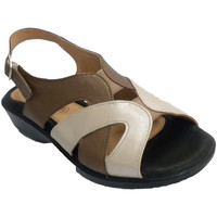 Sapatos Mulher Sandálias Doctor Cutillas Mulher sandália tons de bege e muito con azul