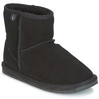 Sapatos Rapariga Botas baixas EMU WALLABY MINI Preto