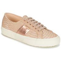 Sapatos Mulher Sapatilhas Superga 2750 PU SNAKE W Cru