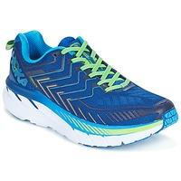 Sapatos Homem Sapatilhas de corrida Hoka one one CLIFTON 4 Azul / Verde