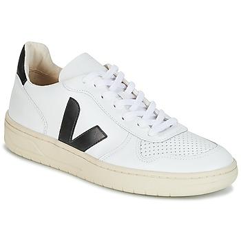 Sapatos Sapatilhas Veja V-10 Branco / Preto