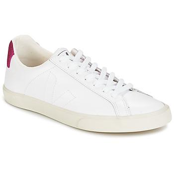 Sapatos Mulher Sapatilhas Veja ESPLAR LT Branco / Brilhante / Vermelho
