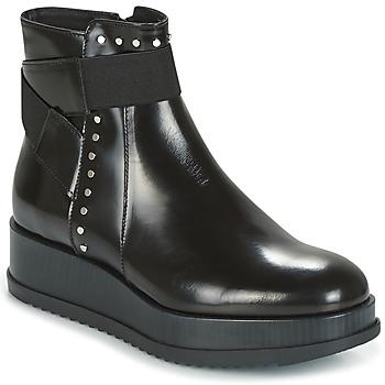 Sapatos Mulher Botas baixas Tosca Blu CIVETTA ABRASIVATO Preto