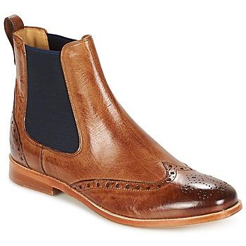 Sapatos Mulher Botas baixas Melvin & Hamilton AMELIE 5 Castanho / Navy