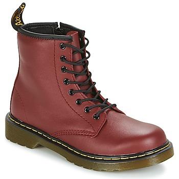 Sapatos Criança Botas baixas Dr Martens DELANEY Vermelho / Cereja