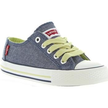 Sapatos Criança Sapatilhas Levi's VTRU0008T TRUCKER LOW Azul