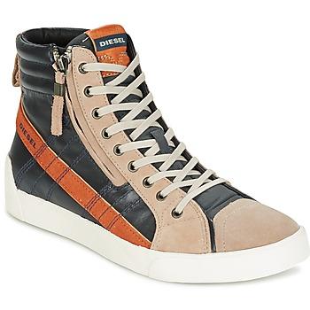 Sapatos Homem Sapatilhas de cano-alto Diesel D-STRING PLUS Antracite / Camel