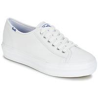 Sapatos Mulher Sapatilhas Keds TRIPLE KICK CORE LEATHER Branco