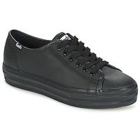 Sapatos Mulher Sapatilhas Keds TRIPLE KICK CORE LEATHER Preto