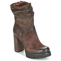 Sapatos Mulher Botins Airstep / A.S.98 BLOC ZIP Castanho
