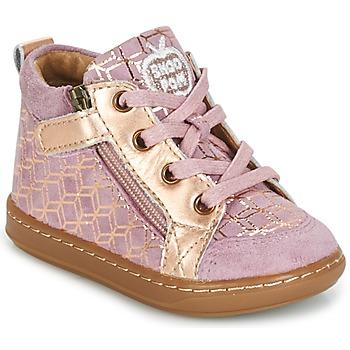 Sapatos Rapariga Sapatilhas de cano-alto Shoo Pom BOUBA BI ZIP Rosa / Cobre