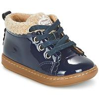 Sapatos Rapariga Botas baixas Shoo Pom BOUBA WOOL Marinho / Bege
