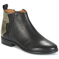 Sapatos Rapariga Botas baixas Adolie ODEON WILD Preto / Platina