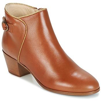 Sapatos Mulher Botins M. Moustache ELEONORE.M Conhaque / Ouro