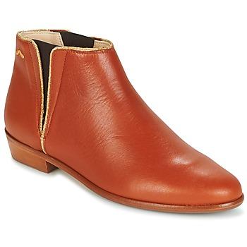 Sapatos Mulher Botas baixas M. Moustache JEANNE.B Conhaque / Ouro