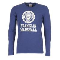 Textil Homem T-shirt mangas compridas Franklin & Marshall DESTU Marinho