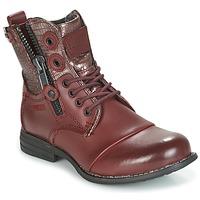 Sapatos Mulher Botas baixas Bunker SARA Bordô