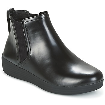 Sapatos Mulher Botins FitFlop SUPERCHELSEA BOOT Preto