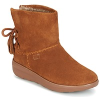 Sapatos Mulher Botins FitFlop MUKLUK SHORTY II BOOTS  WITH TASSELS Castanha