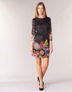 Textil Mulher Vestidos curtos Desigual GRAFI Preto