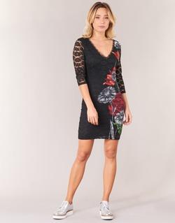 Textil Mulher Vestidos curtos Desigual GRAFE Preto