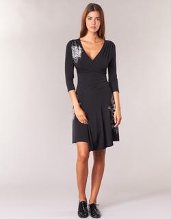 Textil Mulher Vestidos curtos Desigual GRAFU Preto