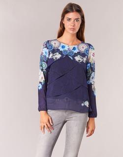 Textil Mulher Tops / Blusas Desigual TAMA Azul