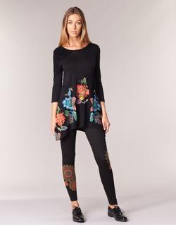 Textil Mulher Collants Desigual JULEF Preto