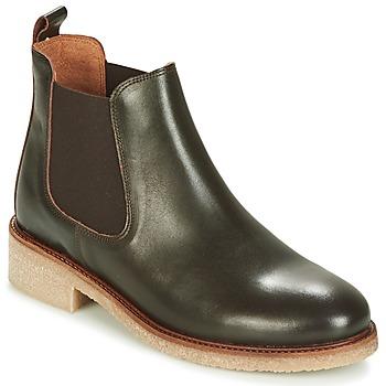 Sapatos Mulher Botas baixas Bensimon BOOTS CREPE Castanho