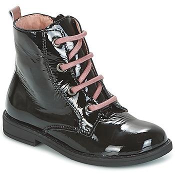 Sapatos Criança Botas baixas Citrouille et Compagnie HEMANU Preto / Rosa