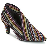Sapatos Mulher Botas baixas United nude FOLD LITE MID Preto / Multicolor