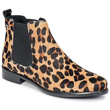 Sapatos Mulher Botas baixas Betty London HUGUETTE Leopardo