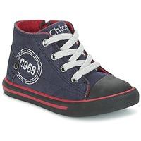 Sapatos Rapaz Sapatilhas de cano-alto Chicco CRITTER Marinho / Preto / Vermelho