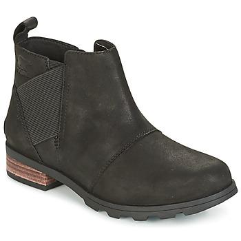 Sapatos Mulher Botas de neve Sorel EMELIE CHELSEA Preto