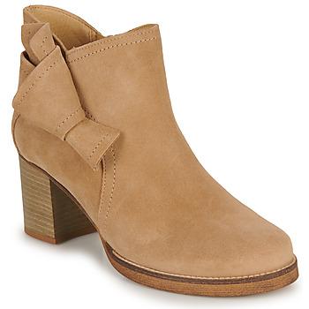 Sapatos Mulher Botins Casual Attitude HIRCHE Bege