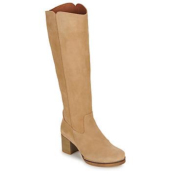 Sapatos Mulher Botas Casual Attitude HAPI Bege