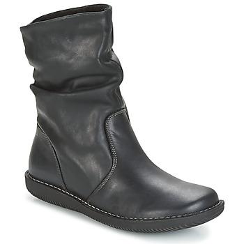 Sapatos Mulher Botas baixas Casual Attitude HAPANO Preto